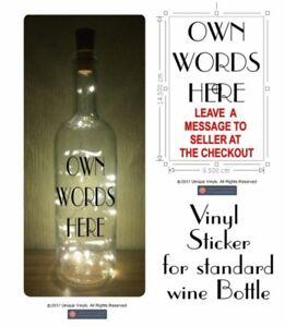 Light Up Bottle Design Your Own Personalised Vinyl Sticker For