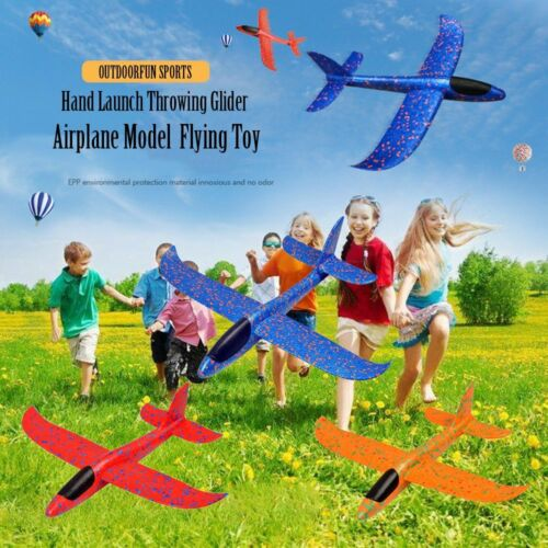Foam Hand Launch Throwing Glider Aircraft Inertia Flying Toy Airplane Model New