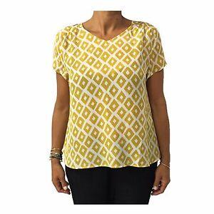 Mostazaecru La De Maraboutee 100 Fee Seda Mujer Camisa Ebay qZwZXRr