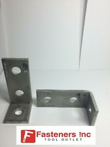 Details about (4651S1) P1346 3-Hole 90° Stainless Steel Corner Angle for  Unistrut Channel