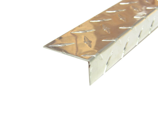2pcs UAAC Aluminum Diamond Plate Flat Sheet .062 x 4 x 48 in