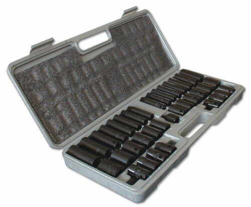 "38PC 1/2"" 3/8"" DEEP SHALLOW AF METRIC AIR IMPACT CRV SOCKET SOCKETS SET"