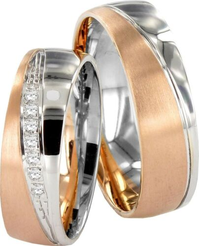 Paarpreis J135 2 Hearts JC Trauringe Eheringe 585 Gold Verlobungsring 14Kt