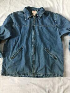 Denim Jacket Knitted Cropped Vintage 90/'s