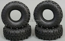 RC 1/10 Rubber TRUCK Tires SUPER SWAMPERS 1.9 ROCK CRAWLER Wheels 108mm W/ Foam