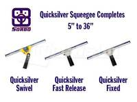 Sorbo Quicksilver Complete Squeegee For Window Cleaning Washing - Any Size
