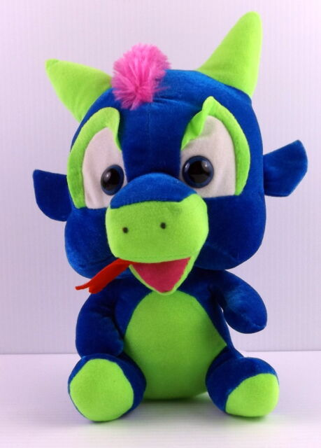 Classic Toy Co Noggi Dragon Colorful Plush Stuffed Animal 11 Tall