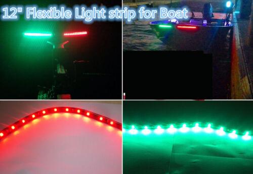 Red /& Green LED Lighting Bass Boat Bow Navigation Lights Marine for Triton Nitro