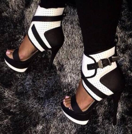 Sexy Oxford Womens Peep Toe European Retro Stilettos High Heel shoes Sz35-45
