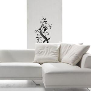 Dettagli su wall stickers fiore camera soggiorno adesivi murali decorazioni  armadio a0017