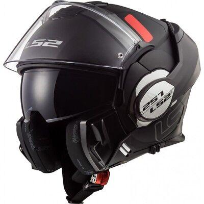 LS2 FF399 VALIANT MATT BLACK FLIP FRONT FULL FACE MODULAR MOTORCYCLE HELMET