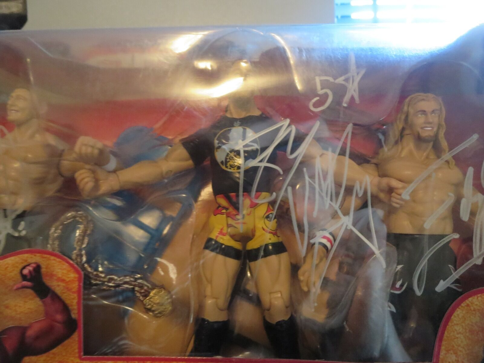 NEW SEALED WWE Brass Revenge Figure Jakks 2002 Signed Autographed EDGE RVD REGAL