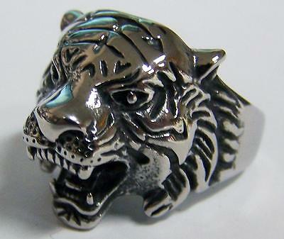 WEREWOLF WITH TEETH STAINLESS BIKER RING #545-S WOLF MENS WOMENS jewelry wolves