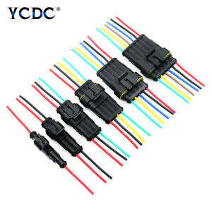WATERPROOF ELECTRICAL TRUCK WIRE CONNECTOR PLUG 2//3//5//6 PIN WAY TERMINALS X10 D