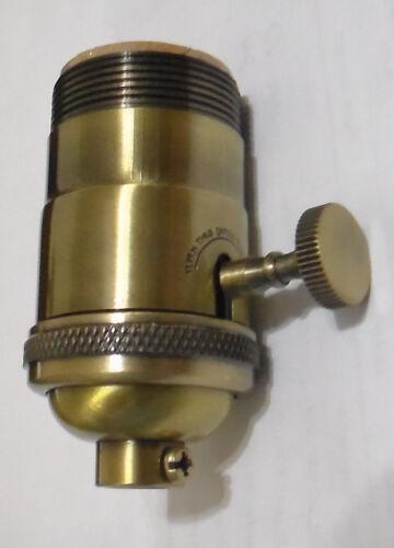 Antique Finish Brass INDUSTRIAL Look 3-Way Heavy Duty Lamp Light Socket  #SO240A