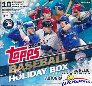 2016-Topps-Baseball-Sealed-HOLIDAY-MEGA-BOX-1-AUTO-RELIC-Snowflake-Parallels