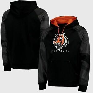 Cincinnati-Bengals-Armour-II-Performance-Hoodie-2XL-Black-Majestic-NFL