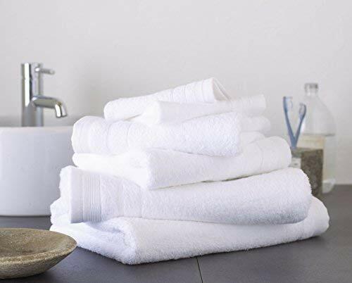 Grand nœud 100/% coton égyptien 4 pièces Serviette Bale Pack 2 face 1 main /& 1 bath