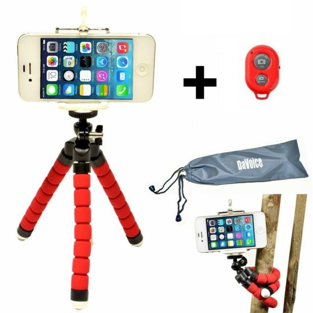 the latest e6994 52cb1 Flexible iPhone 8 7 6 X Tripod Mount Holder Bluetooth Remote Shutter Phone  Stand