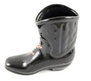 Vintage Ceramic Cowboy Boot Planter Ebay