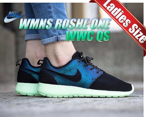 NIKE ROSHE ROSHE ROSHE ONE WWC QS 808708-303 Wmn 6.5 Teal   Black - Vapor Green - Black 915018