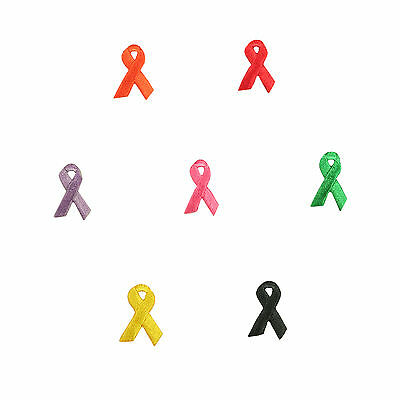 Cancer Awareness Ribbon Self Adhesive Iron On Applique Sticker Patch By Piece