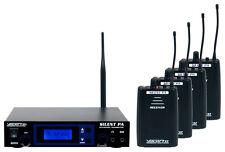VocoPro SilentPA-PRACTICE 16CH UHF Wireless Broadcast System 4 Bodypack Receiver
