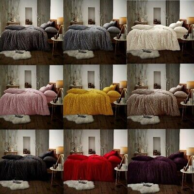 Teddy Fleece Luxury Fitted Sheets Cosy Warm Soft Bedding Sets Pillow Cases