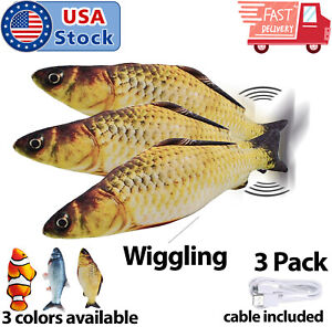 3-Pack-Cat-Wagging-Fish-Realistic-Plush-Simulation-Interactive-Fish-Toys