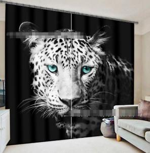 3d blancoo Leopard 357 bloqueo foto cortina cortina de impresión sustancia cortinas de ventana