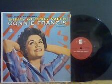 CONNIE FRANCIS  Sing Along With   LP   U.S. original    Great !!