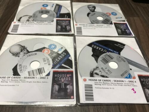 1 of 1 - House of Cards - Series 1 - Complete (DVD, 2013, 4-Disc Set, Box Set) DISKS ONLY