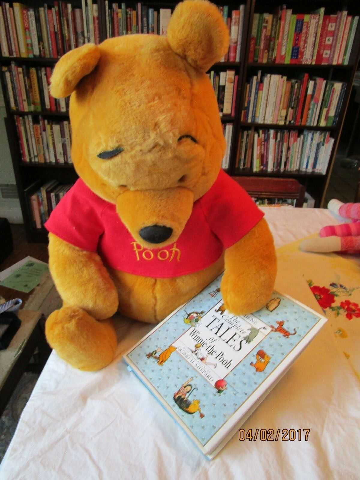 Large 28 Inch Plush Pooh Bear and Book Comp Tales of Winnie the Pooh