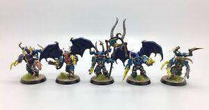 Warhammer 40 000 Space Marines du Chaos Tzeentch Mille Fils Possédés Peints