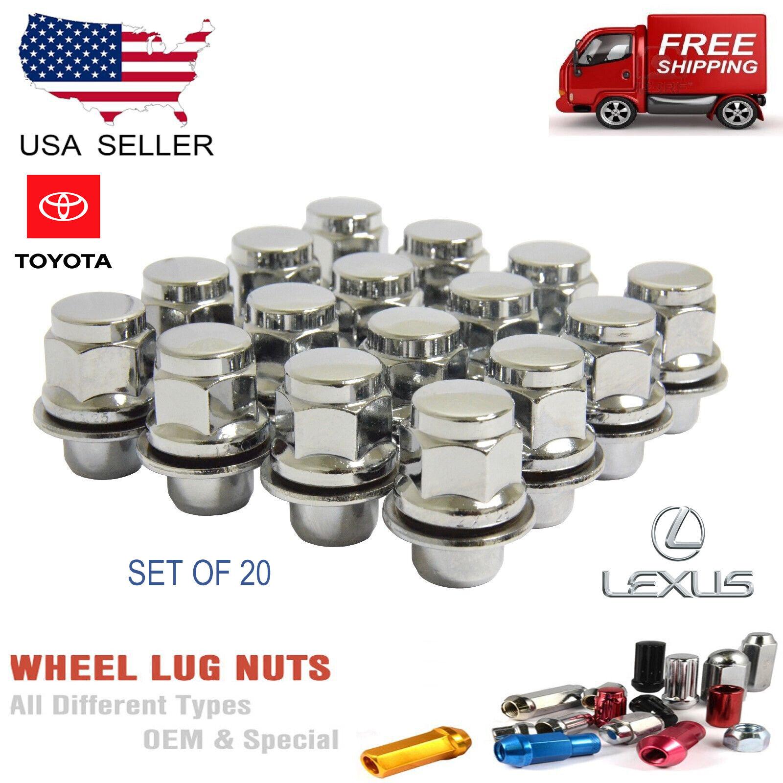 24 Gorilla Chrome Bulge Acorn Lug Nuts 12X1.5Fits Lexus Scion Toyota Wheels