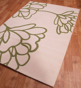 Retro-Stencil-Leaf-Pattern-with-Soft-Touch-Pile-Cream-amp-Green-160-x-230cm