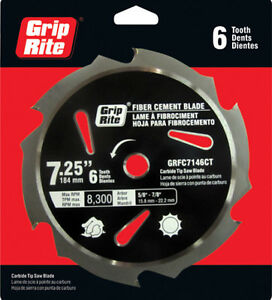 Griprite Carbide Tip Fiber Cement Saw Blade Grfc7146ct
