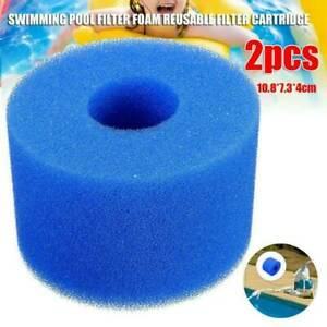 2X Washable And Reusable Foam Hot Tub Cartridge S1 Type For Intex Pure Spa