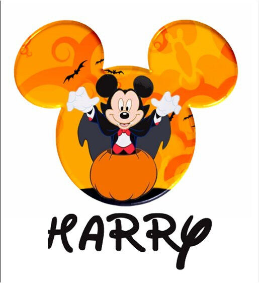 disney halloween minnie mickey mouse personalized t shirt iron on transfer ebay