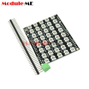 Details about 8x5 40 LED Matrix WS2812 LED 5050 RGB Full-Color Driver Board  For Arduino UK