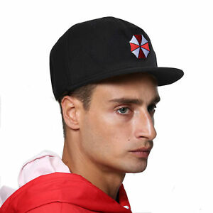 resident evil umbrella corporation black cap hat with embroidery