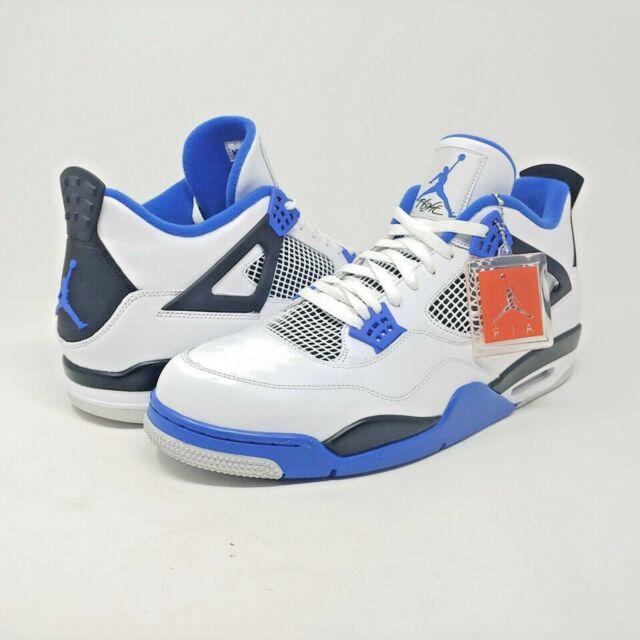 4a7974941b2 Air Jordan 4 IV Retro Motorsport White Game Royal Blue Black OG Mens Size 18