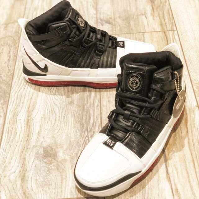 Original Nike Zoom Lebron III 3 Black White Varsity Crimson