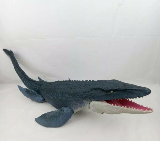 "Jurassic World 28"" Real Feel Mosasaurus Massive Sea Dinosaur Monster RARE Toy"