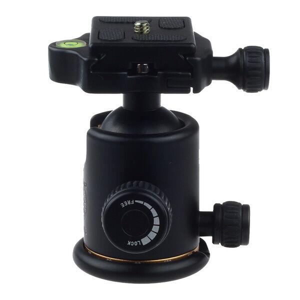 360° Swivel Aluminum Ball Head+Quick Release QR Plate For Tripod DSLR Camera