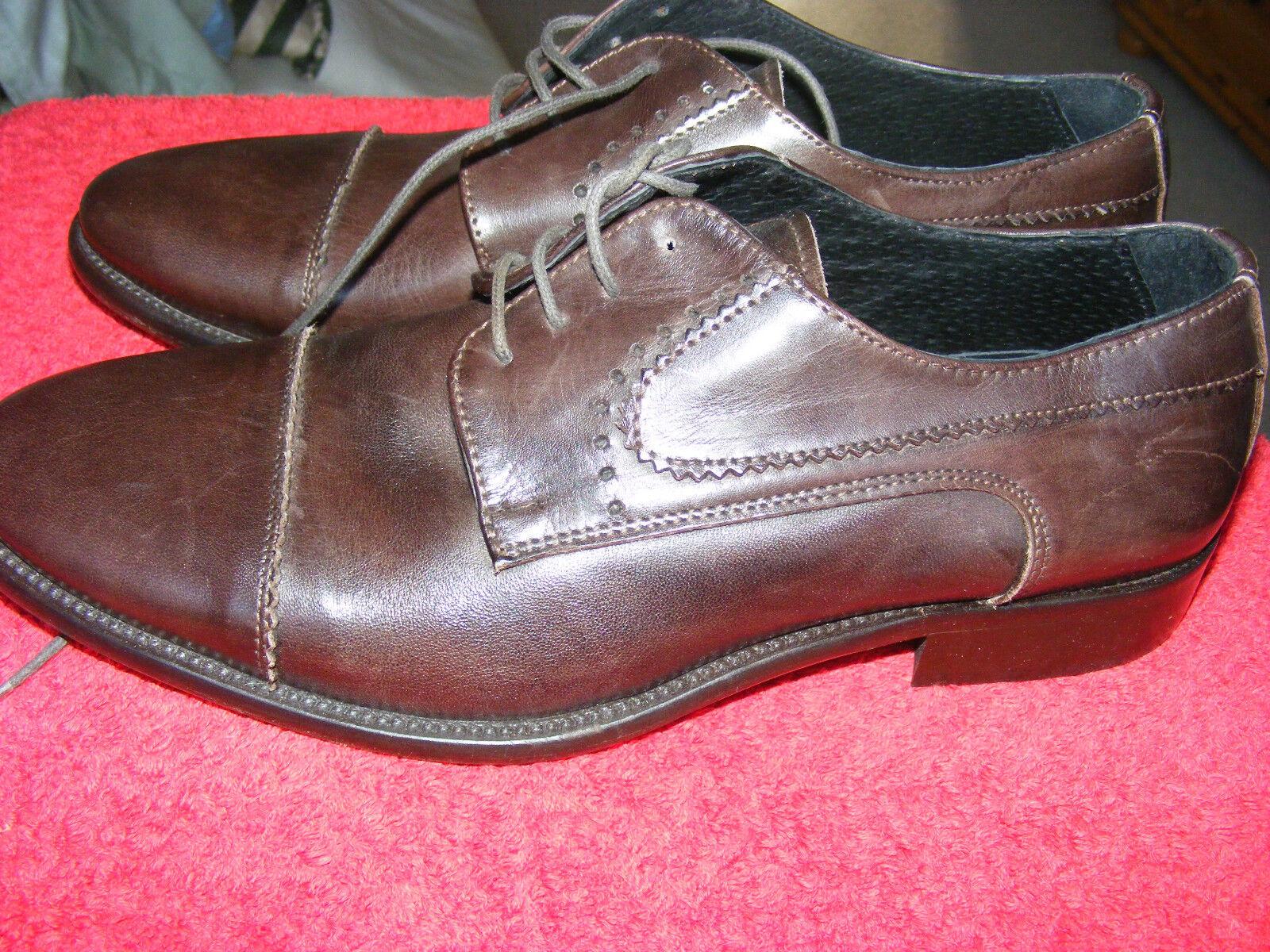 Gr. 42 braune Schnürschuhe Halbschuhe braun + NEU + Leder