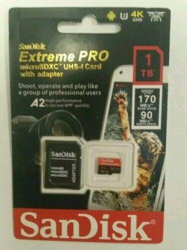 Memory card SanDisk Extreme Pro 1TB Flash MicroSDXC UHS-I .La condizione Nuova.