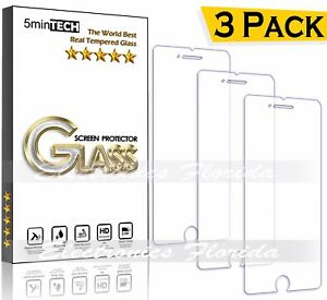 3-PACK-Lot-Tempered-real-GLASS-screen-protector-for-iPhone-X-8-7-6-5-5s-Plus