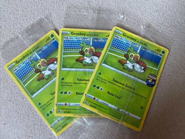 Grookey On The Ball 003/005 Pokemon Futsal  - Mint In Packaging