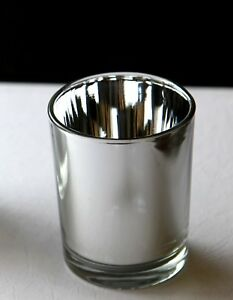 20-Silver-Glass-Tealight-votive-candle-holder-Wedding-Event-Anniversary-Party